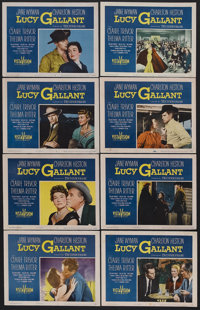 "Lucy Gallant (Paramount, 1955). Lobby Card Set of 8 (11"" X 14""). Drama. Starring Jane Wyman, Charlton Heston..."