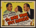 "Movie Posters:Comedy, The Man Who Lost Himself (Universal, 1941). Title Lobby Card (11"" X 14""). Comedy. Starring Brian Aherne, Kay Francis, Henry ..."