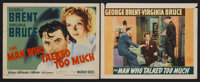 "The Man Who Talked Too Much (Warner Brothers, 1940). Title Lobby Card (11"" X 14"") and Lobby Card (11"" X 1..."