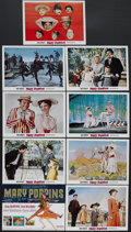 "Movie Posters:Fantasy, Mary Poppins (Buena Vista, 1964). Lobby Card Set of 9 (11"" X 14"").Musical Comedy. Starring Julie Andrews, Dick Van Dyke, Da...(Total: 9 Item)"