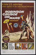"""Movie Posters:Science Fiction, Robinson Crusoe On Mars (Paramount, 1964). One Sheet (27"""" X 41"""").Science Fiction. Starring Paul Mantee, Victor Lundin, Adam..."""