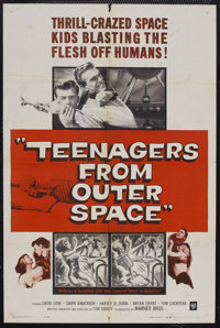 "Teenagers from Outer Space (Warner Brothers, 1959). One Sheet (27"" X 41""). Science Fiction. Starring David Lov..."