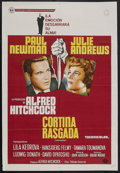 """Movie Posters:Hitchcock, Torn Curtain (Universal, 1966). Argentina One Sheet (29"""" X 43""""). Thriller. Starring Paul Newman, Julie Andrews, Lila Kedrova..."""