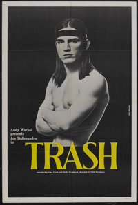 "Trash (Cinema 5 Distributing, 1970). One Sheet (27"" X 41""). Drama. Starring Joe Dallesandro, Holly Woodlawn, G..."
