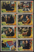 "Movie Posters:War, The Voice in the Night (Columbia, 1941). Lobby Card Set of 8 (11"" X14""). War. Starring Clive Brook, Diana Wynyard, Raymond ... (Total:8 Items)"