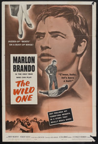 "The Wild One (Columbia, R-1960). One Sheet (27"" X 41""). Drama. Starring Marlon Brando, Mary Murphy, Robert Kei..."