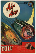 "Golden Age (1938-1955):Science Fiction, Air Ace V3#5 Davis Crippen (""D"" Copy) pedigree (Street & Smith,1946) Condition: VF/NM. Ray Evans cover. Overstreet 2006 VF/..."