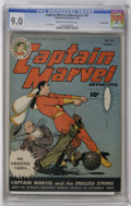 Golden Age (1938-1955):Science Fiction, Captain Marvel Adventures #55 Crowley Copy pedigree (Fawcett, 1946)CGC VF/NM 9.0 Cream to off-white pages. C.C. Beck art. O...