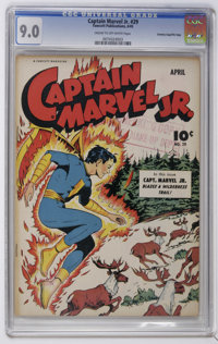 Captain Marvel Jr. #29 Crowley Copy/File Copy (Fawcett, 1945) CGC VF/NM 9.0 Cream to off-white pages