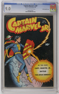 Captain Marvel Jr. #60 Crowley Copy/File Copy (Fawcett, 1948) CGC VF/NM 9.0 Cream to off-white pages. Cover by Kurt Scha...