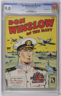 Golden Age (1938-1955):War, Don Winslow of the Navy #33 Crowley Copy/File Copy (Fawcett, 1946)CGC VF/NM 9.0 Cream to off-white pages....