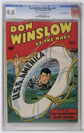 Golden Age (1938-1955):War, Don Winslow of the Navy #39 Crowley Copy/File Copy (Fawcett, 1946)CGC VF/NM 9.0 Cream to off-white pages....