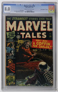 "Golden Age (1938-1955):Horror, Marvel Tales #110 Davis Crippen (""D"" Copy) pedigree (Atlas, 1952)CGC VF 8.0 Cream to off-white pages. Russ Heath and Syd Sh..."