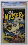"Golden Age (1938-1955):Horror, Mister Mystery #10 Davis Crippen (""D"" Copy) pedigree (AragonMagazines, Inc., 1953) CGC FN/VF 7.0 Off-white pages. Bernard B..."