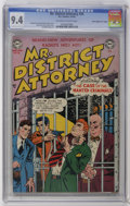 """Golden Age (1938-1955):Crime, Mr. District Attorney #26 Davis Crippen (""""D"""" Copy) pedigree (DC, 1952) CGC NM 9.4 Off-white to white pages. Cover and art by..."""