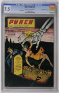 "Golden Age (1938-1955):Crime, Punch Comics #13 Davis Crippen (""D"" Copy) pedigree (Chesler, 1945) CGC VF- 7.5 Cream to off-white pages. Cover lists four Ch..."