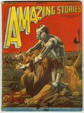 Pulps:Science Fiction, Amazing Stories Group (Ziff-Davis, 1928-29) Condition: AverageVG/FN. Consists of April, 1928; June, 1928; July, 1928; and (...(Total: 7 Items)