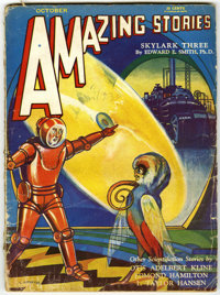 Amazing Stories Group (Ziff-Davis, 1929-32) Condition: Average GD. Includes May, 1929; August, 1929; September, 1929; Au...