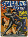 Pulps:Science Fiction, Startling Stories Group (Standard, 1948) Condition: Average VG.Contains January, 1939 (first issue of the series, robot cov...(Total: 5 Items)