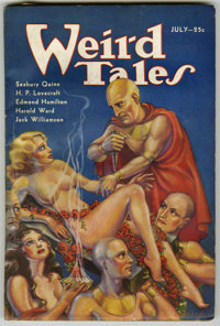 Weird Tales (Pulp) Group (Popular Fiction, 1933-34) Condition: Average VG+. Includes July, 1933 (contains a Robert E. Ho...