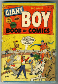 """Giant Boy Book of Comics #1 (Newsbook, 1945). Offered here is a hard cover 240 page """"Giant"""" of a comic by Mr..."""