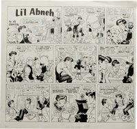 """Wally Wood - The Worst From Mad #4 Page Original Art (EC, 1961). Dead-on parody of Li'l Abner for the """"Sunday Comic..."""