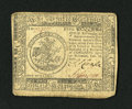 Colonial Notes:Continental Congress Issues, Continental Currency February 26, 1777 $5 Fine. This note is fromthe scarcer Baltimore issue. It exhibits edge wear....