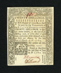 Colonial Notes:Connecticut, Connecticut June 1, 1780 Slash Cancel 20s Very Choice New. This is really too nice a note to call anything less than a gem b...