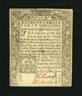 Colonial Notes:Connecticut, Connecticut July 1, 1780 CC Cancel 40s Gem New. This is tied forthe finest example of this denomination that we have offere...