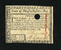 Colonial Notes:Massachusetts, Massachusetts May 5, 1780 $20 Choice New. A small circular holecancellation is found on this boldly printed and wonderfully...