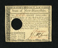 Colonial Notes:New Hampshire, New Hampshire April 29, 1780 $8 Choice About New. This is tied forthe finest example of this denomination that we have had ...