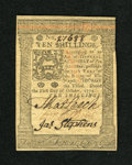 Colonial Notes:Pennsylvania, Pennsylvania October 1, 1773 10s Gem New. An incredible gem exampleof this columned issue that has great signatures, bold p...
