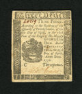 Colonial Notes:Pennsylvania, Pennsylvania April 25, 1776 3d Choice New. A lovely example of thissmall change issue that is crisp and well signed with su...