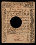 Colonial Notes:Connecticut, Connecticut June 1, 1780 40s Extremely Fine-About New.. ...