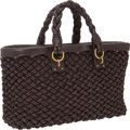 Luxury Accessories:Bags, Bottega Veneta Limited Edition, #24/100, Woven Leather Cords Tote....
