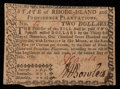 Colonial Notes:Rhode Island, Rhode Island July 2, 1780 $2 Very Fine-Extremely Fine.. ...