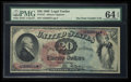 Large Size:Legal Tender Notes, Fr. 127 $20 1869 Legal Tender PMG Choice Uncirculated 64 EPQ.. ...