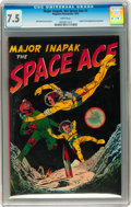 Golden Age (1938-1955):Science Fiction, Major Inapak, the Space Ace #1 (Magazine Enterprises, 1952) CGC VF-7.5 White pages....