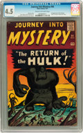 Silver Age (1956-1969):Horror, Journey Into Mystery #66 (Marvel, 1961) CGC VG+ 4.5 Cream tooff-white pages....