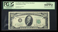 Error Notes:Mismatched Serial Numbers, Fr. 2011-E* $10 1950A Federal Reserve Note. PCGS Gem New 66PPQ.....