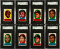 Baseball Cards:Sets, 1963 Topps Baseball Peel-Offs Complete Set (46) Plus Extras. ...