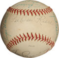 Autographs:Baseballs, 1978 Hall of Famer and Stars Signed Baseball with Two MarisSignatures....
