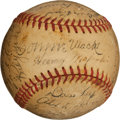 Autographs:Baseballs, 1948 Philadelphia Athletics Team Signed Baseball....