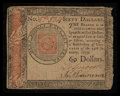 Colonial Notes:Continental Congress Issues, Continental Currency January 14, 1779 $60 Very Fine.. ...