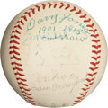 "Autographs:Baseballs, 1950's Ty Cobb, ""Wahoo Sam"" Crawford & Davy Jones SignedBaseball...."