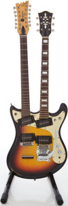 Musical Instruments:Electric Guitars, Circa Mid 1960's Mosrite Joe Maphis Double Neck Sunburst Solid BodyElectric Guitar, #2J083....