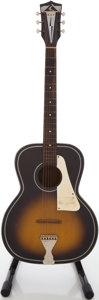 Musical Instruments:Acoustic Guitars, Circa 1960's Kay Sunburst Acoustic Guitar....