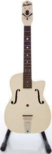 Musical Instruments:Acoustic Guitars, Circa 1950's Maccaferri White Plastic Acoustic Guitar....