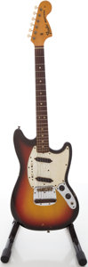 Musical Instruments:Electric Guitars, 1972 Fender Mustang Sunburst Solid Body Electric Guitar,#367024....