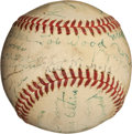 Autographs:Baseballs, 1939 Baseball Centennial Event Signed Baseball with Kid Nichols,G.C. Alexander....